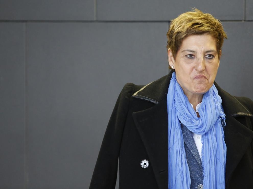 María Victoria Pinilla este martes en la Ciudad de la Justicia.
