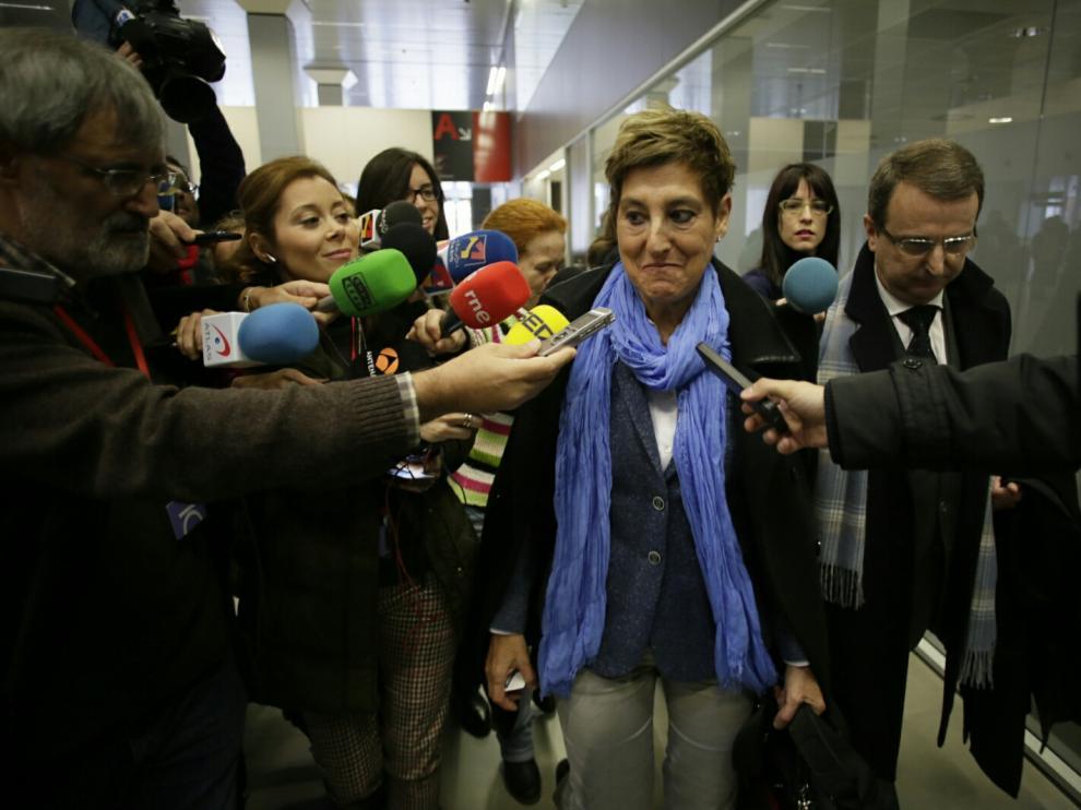 María Victoria Pinilla, a su llegada a los juzgados