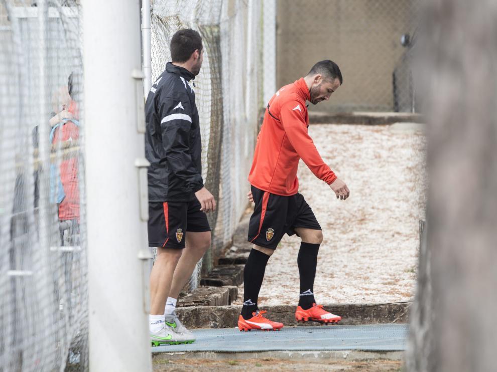 Mario se retira al gimnasio de la Ciudad Deportiva, en un entrenamiento