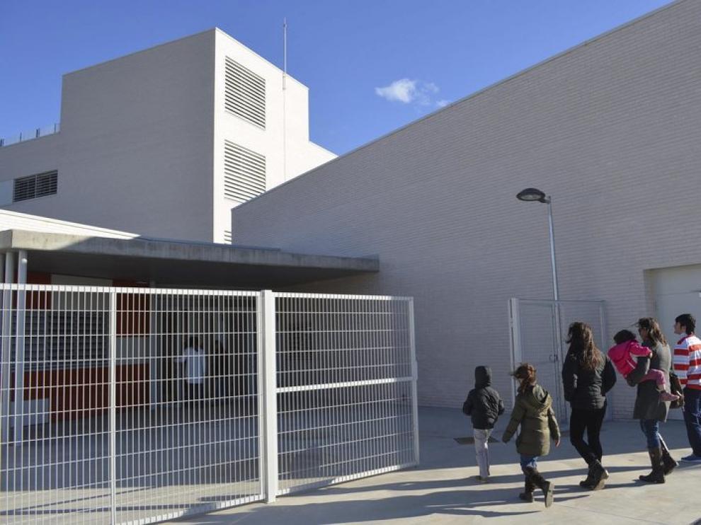 Colegio Monzón III, el único de Aragón con jornada continua.