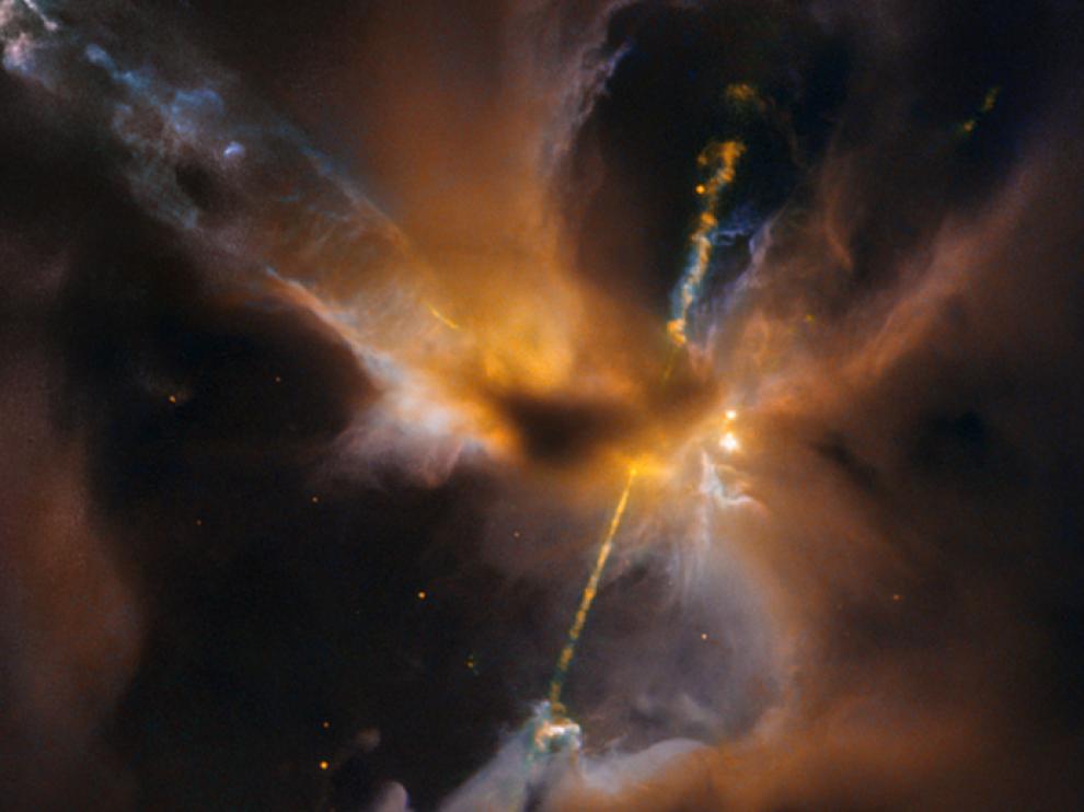 El sable láser captado por el Hubble