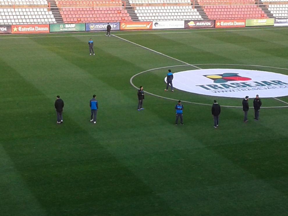El Nou Estadi, antes del partido.