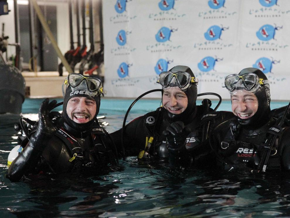 Los hermanos Roca en el Aquarium de Barcelona.