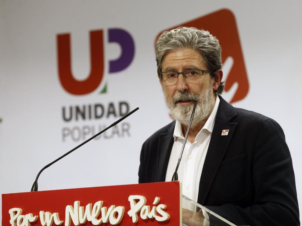 El secretario de Organizacion de Unidad Popular, Adolfo Barrena.