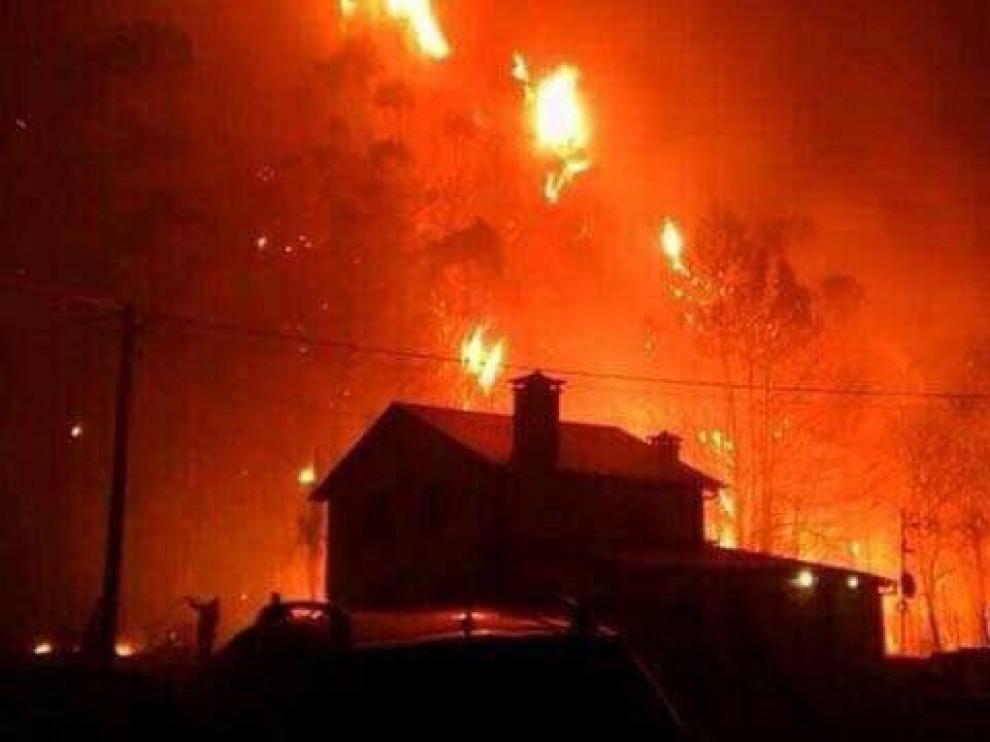 Imagen de uno de los incendios.