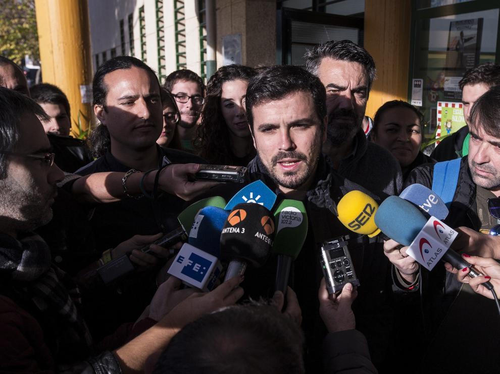El candidato de Unidad Popular-IU a la Presidencia del Gobierno, Alberto Garzón.