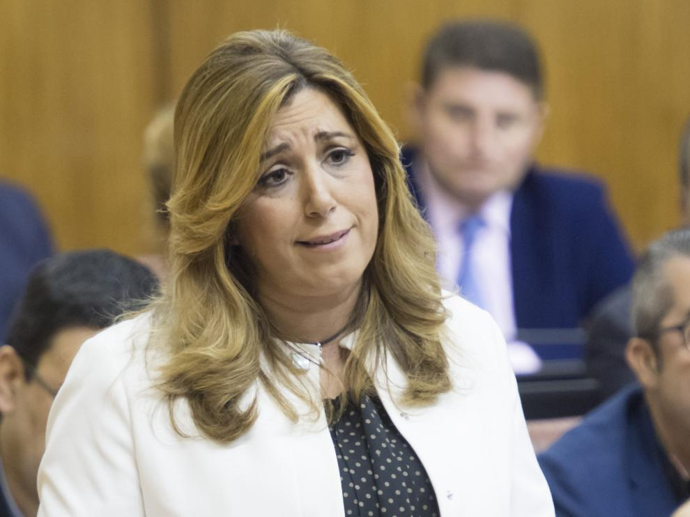 La presidenta de la Junta de Andalucía, Susana Díaz,