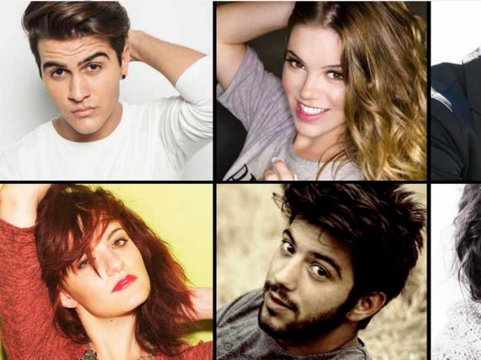 Los seis candidatos a participar en el Festival de Eurovisión 2016.