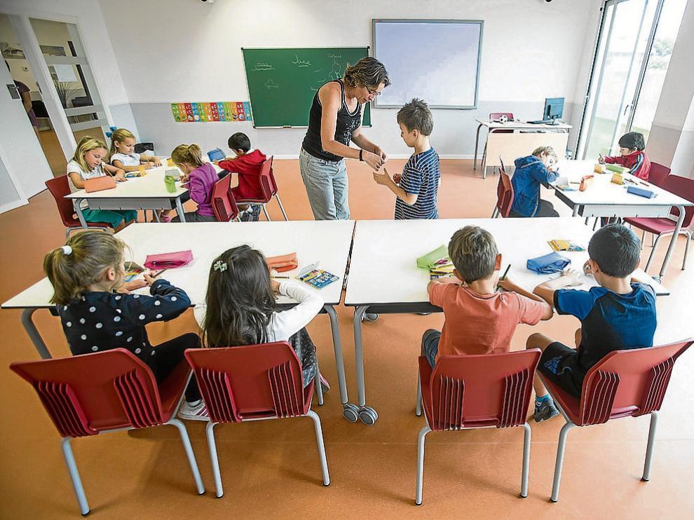 Imagen de archivo del inicio de curso en el colegio Ánfora, el pasado octubre.