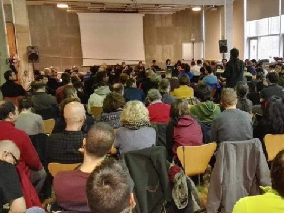 Un momento de la reunión de la CUP celebrada este domingo en Barcelona.