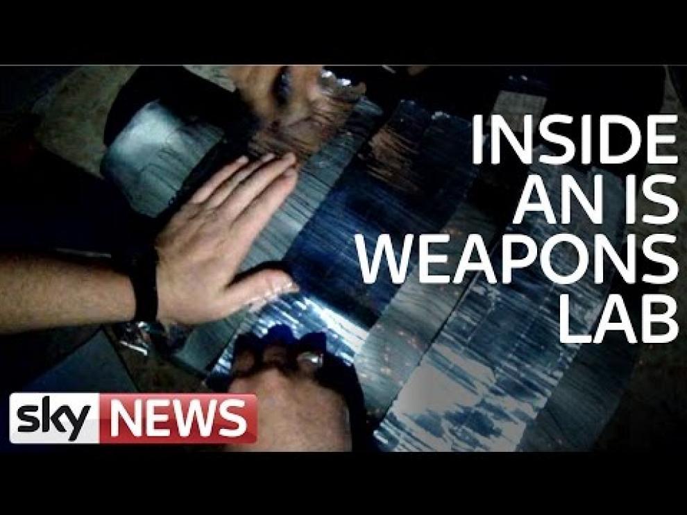 Publican un vídeo de un laboratorio secreto de armas del Estado Islámico