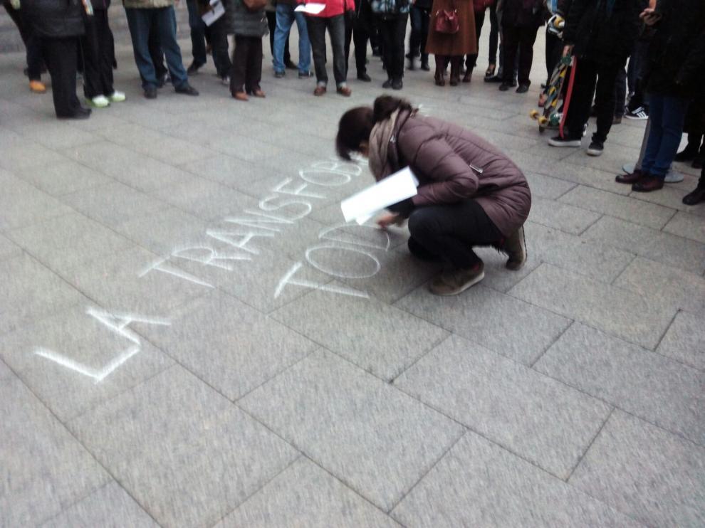 Concentración en Zaragoza el 27 de diciembre tras el suicidio de un menor transexual en Barcelona.