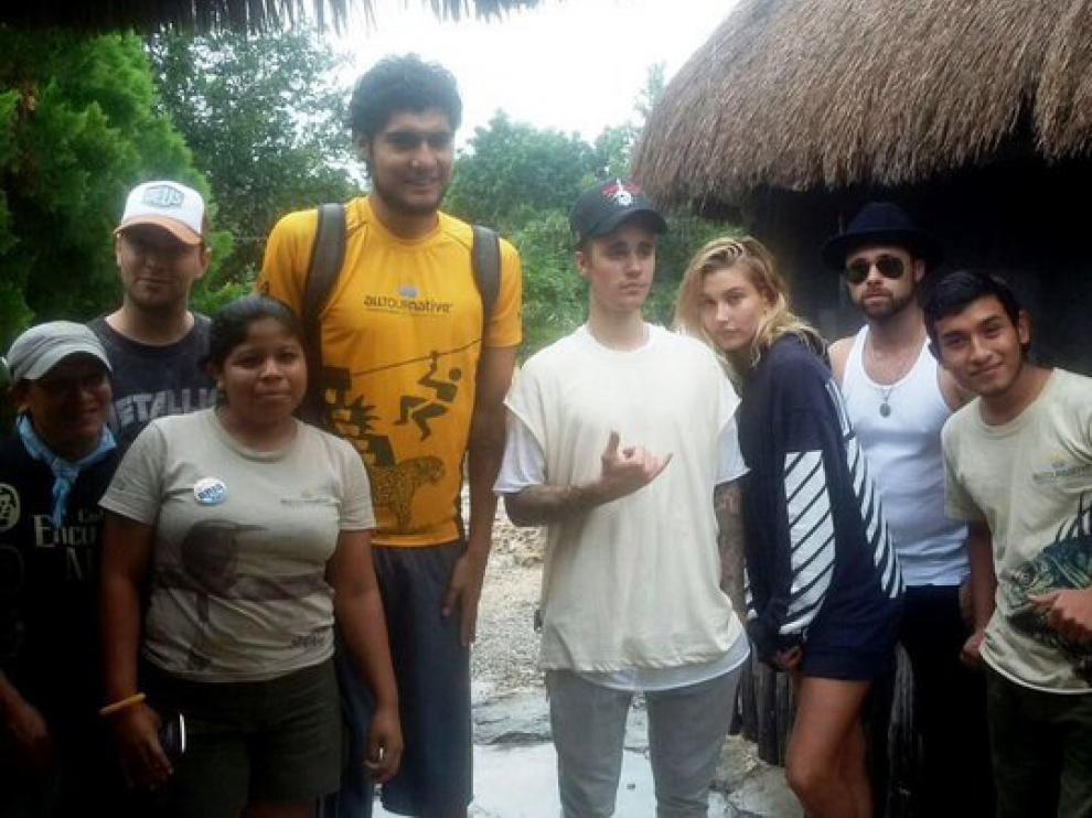 Justin Bieber, durante sus vacaciones en la Riviera Maya