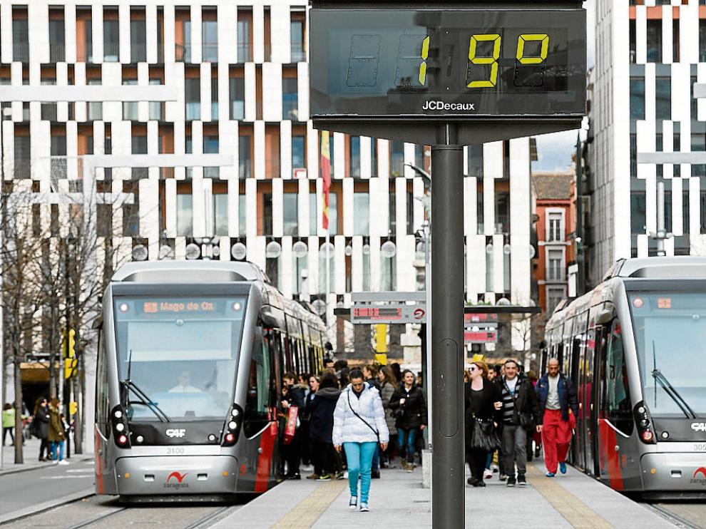 Bajada de temperaturas en Zaragoza.
