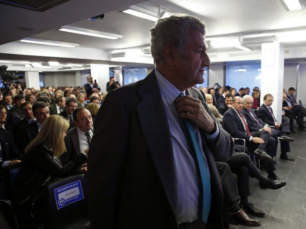 Jesús Posada durante la reunión de la Directiva Nacional del PP en la sede de Génova este martes.