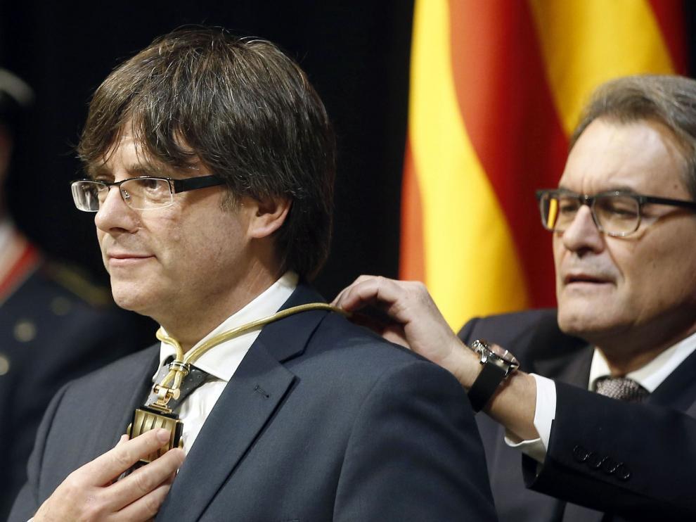 ?Carles Puigdemont, durante la investidura