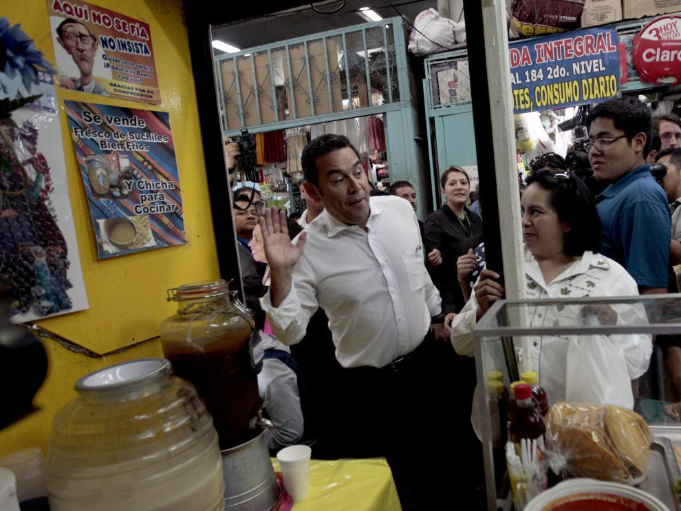 Últimos preparativos para la investidura de Jimmy Morales como presidente de Guatemala