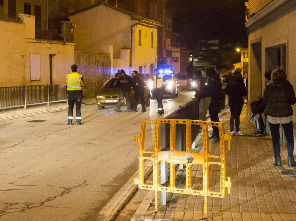 La Policía Local de Zuera detuvo ayer al autor del atropello para esclarecer el accidente.