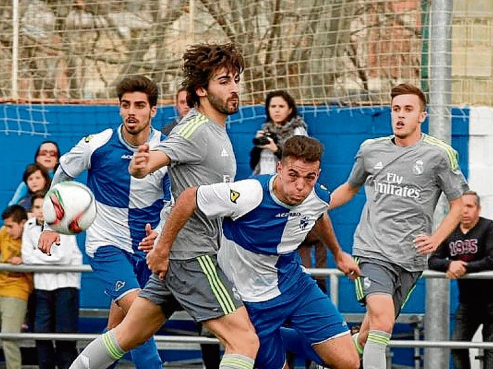 Fotografía del partido entre el Ebro y el Castilla.