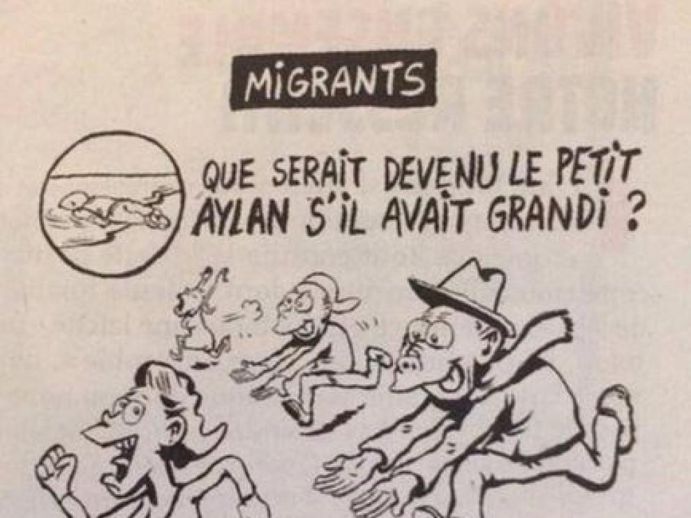 Viñeta publicada por la revista francesa 'Charlie Hebdo'.