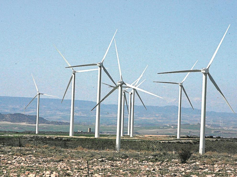 Parque eólico de Aragón.