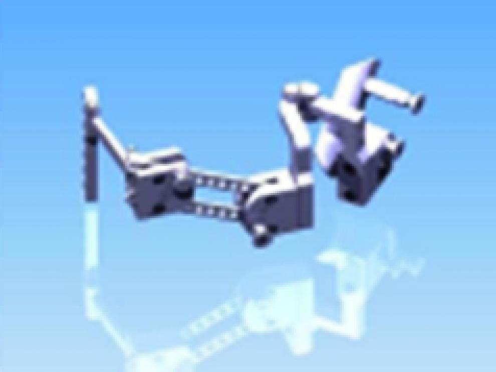 Diseño del exoesqueleto diseñado en el CAR (UPM-CSIC).