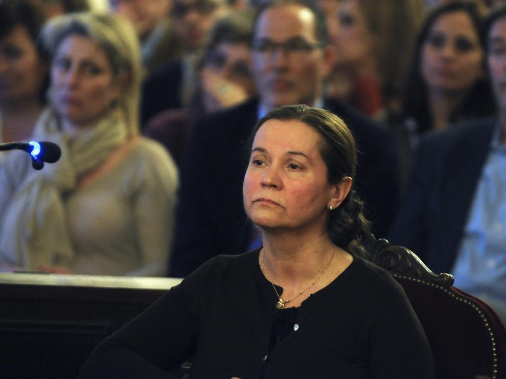 Montserrat González durante el juicio.