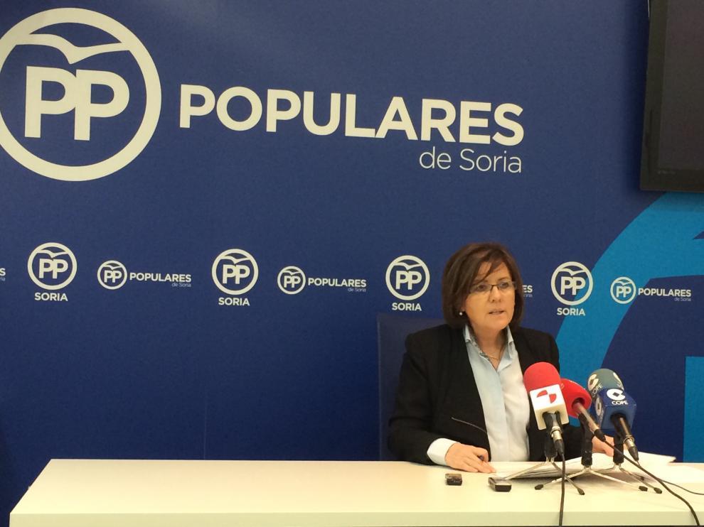 La presidenta del PP de Soria María del Mar Angulo.