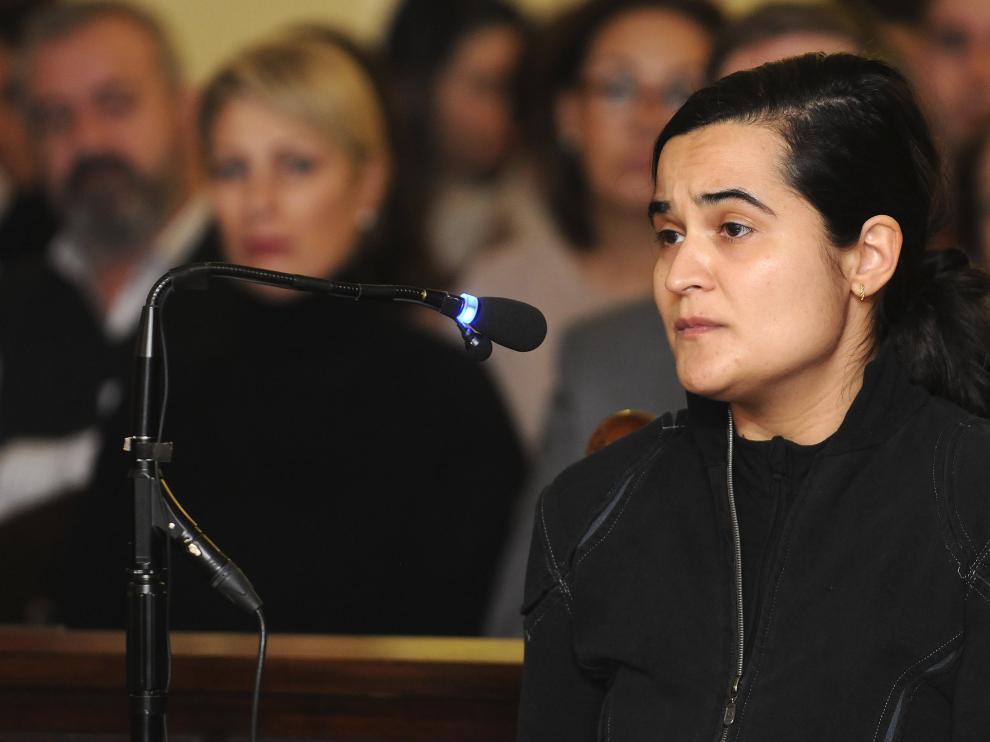 Triana Martínez, una de las tres acusadas por el crimen de la presidenta de la Diputación de León, Isabel Carrasco