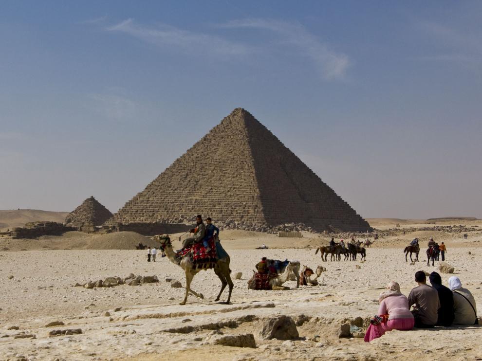 Imagen de la zona de las pirámides en Egipto.