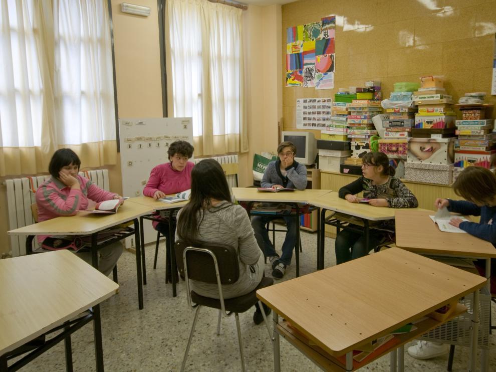 Alumnos del colegio San Martín de Porres.