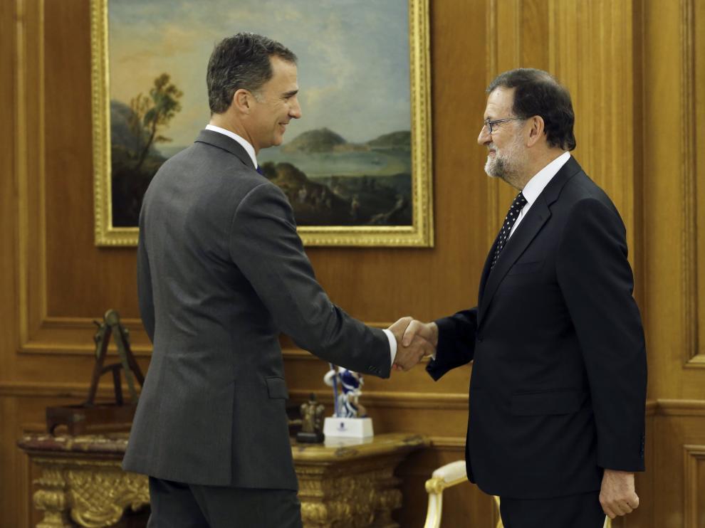 Reunión en la que Rajoy comunicó su deseo al Rey de ser candidato a la investidura.