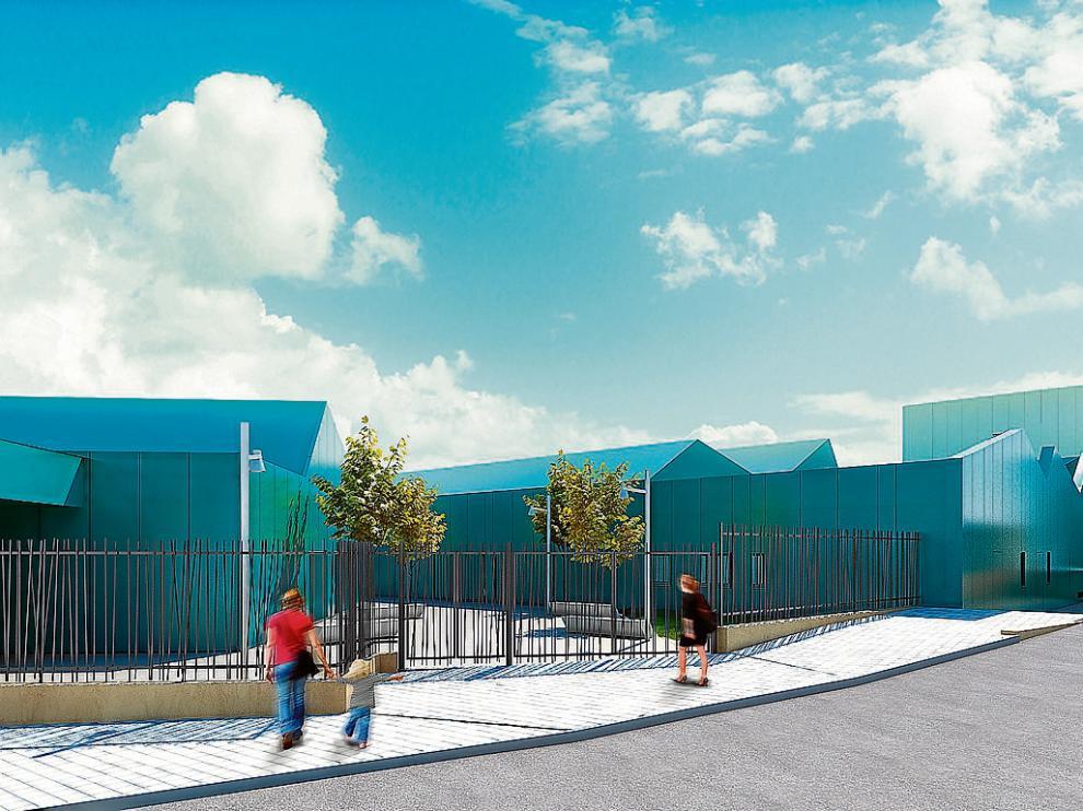 Recreación de la entrada a la parte de infantil del centro, que será realidad en septiembre.