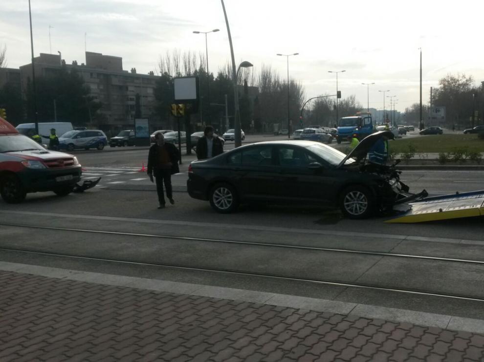 Accidente de trafico en María Zambrano con Valle de Broto