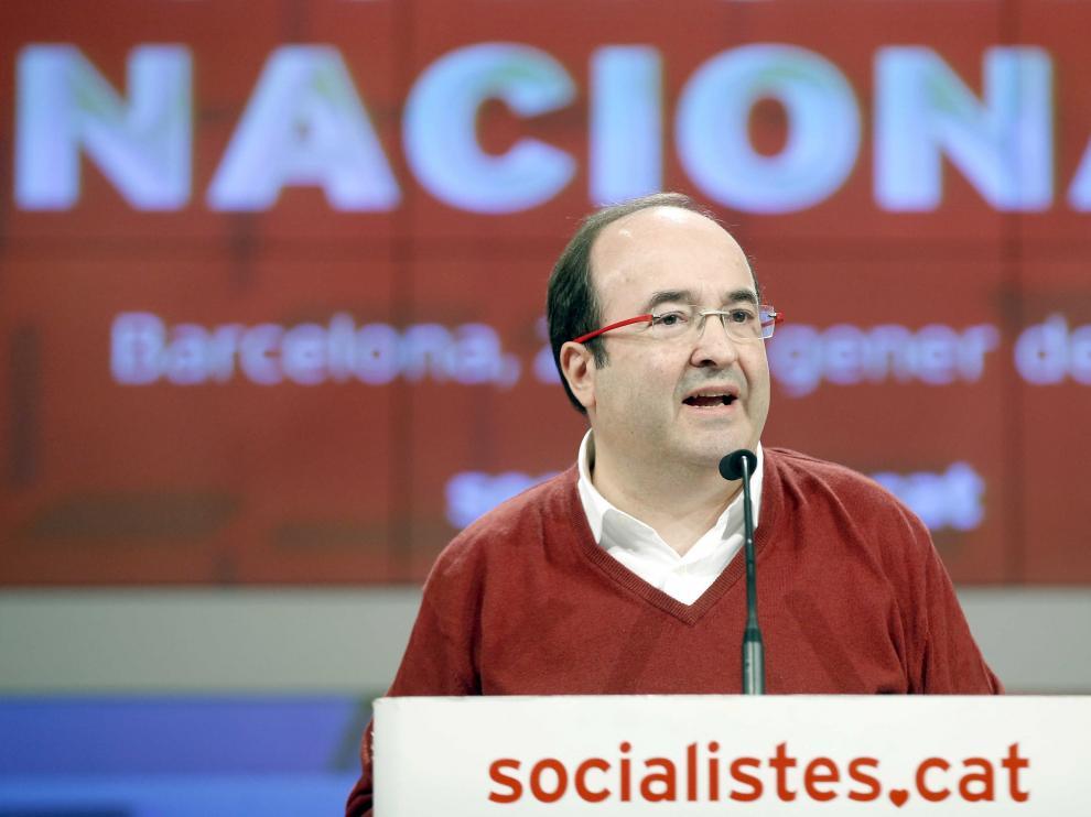 Iceta en el Consejo Nacional del PSC.