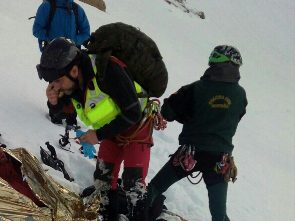 Accidente de un joven valenciano en el valle de Hecho.