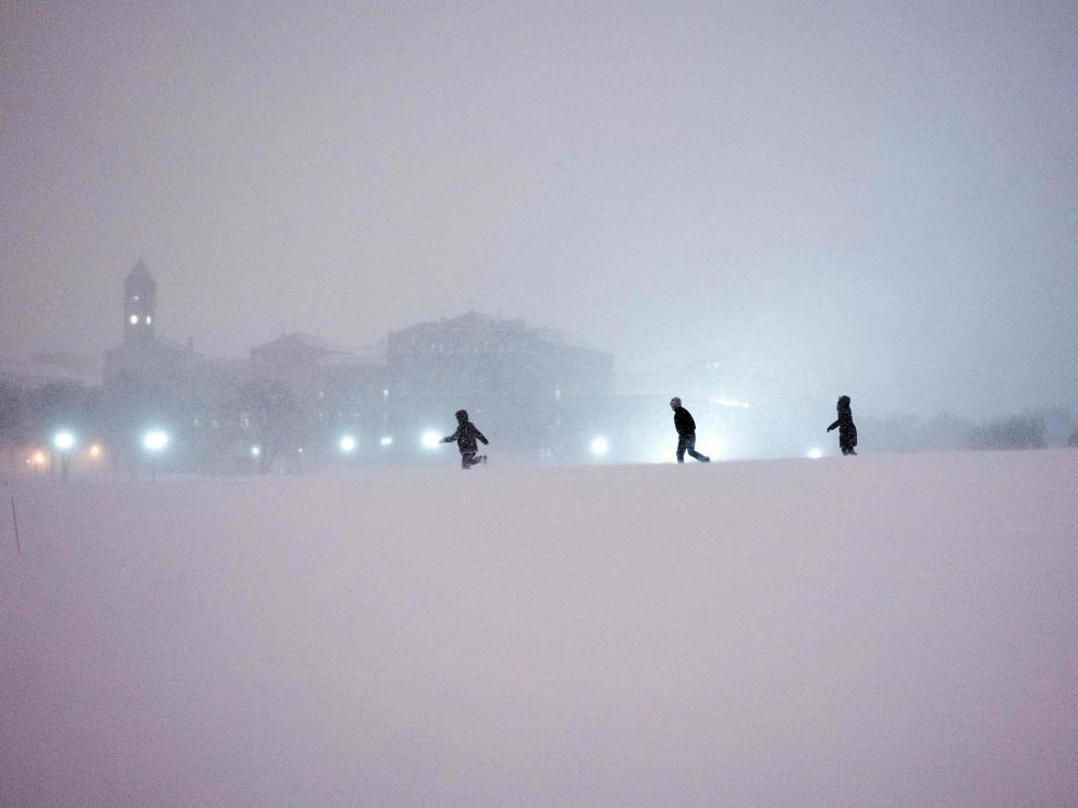 Tormenta de nieve y viento en Estados Unidos