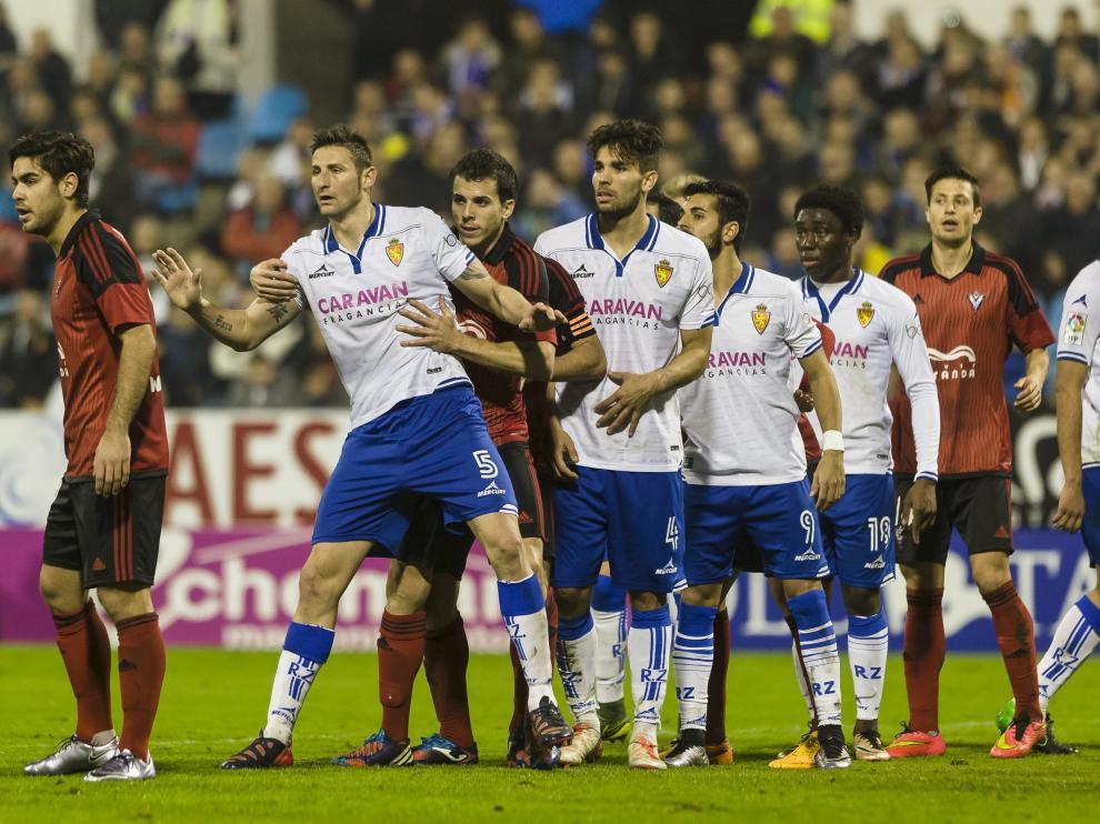 Una imagen del Real Zaragoza-Mirandés, último partido disputado en La Romareda