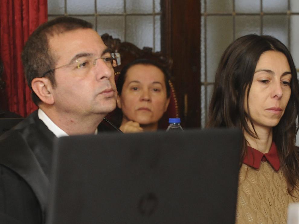 Raquel Gago durante el juicio.