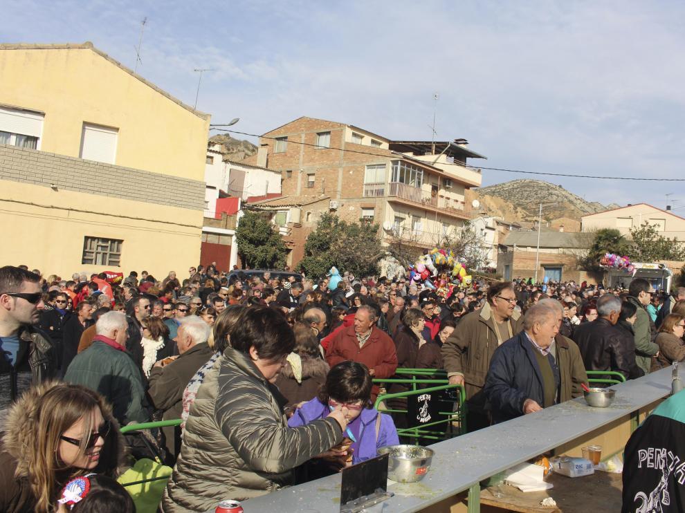 La festa del Tossino en Albelda.