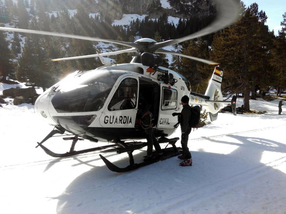 Rescate de montaña en los Llanos del Hospital, imagen de archivo.