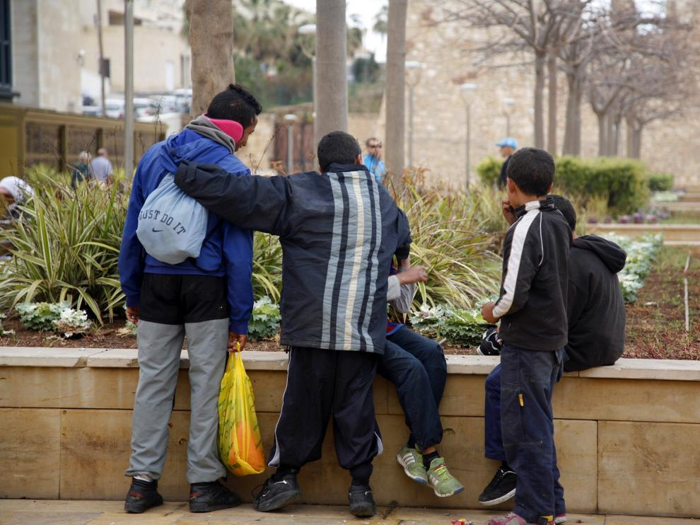 Menores no acompañados en Melilla