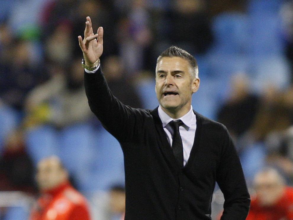 Lluís Carreras, durante el partido del Real Zaragoza ante el Leganés