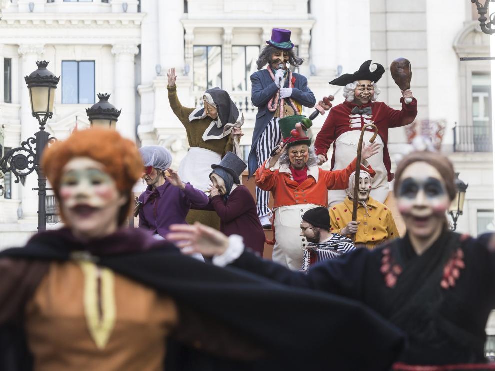 Carnaval infantil en Zaragoza.