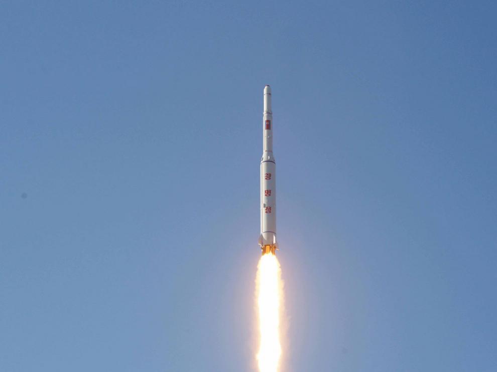 Imagen del lanzamiento difundida por Corea del Norte, imagen de archivo.