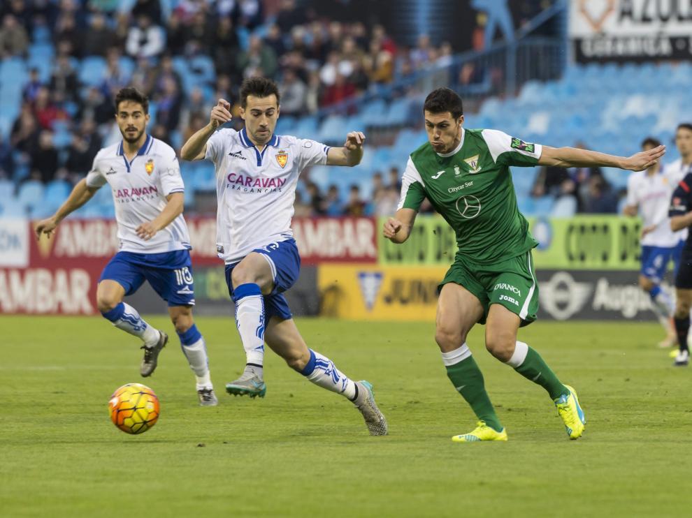 Una imagen del partidodel Leganés contra el Real Zaragoza