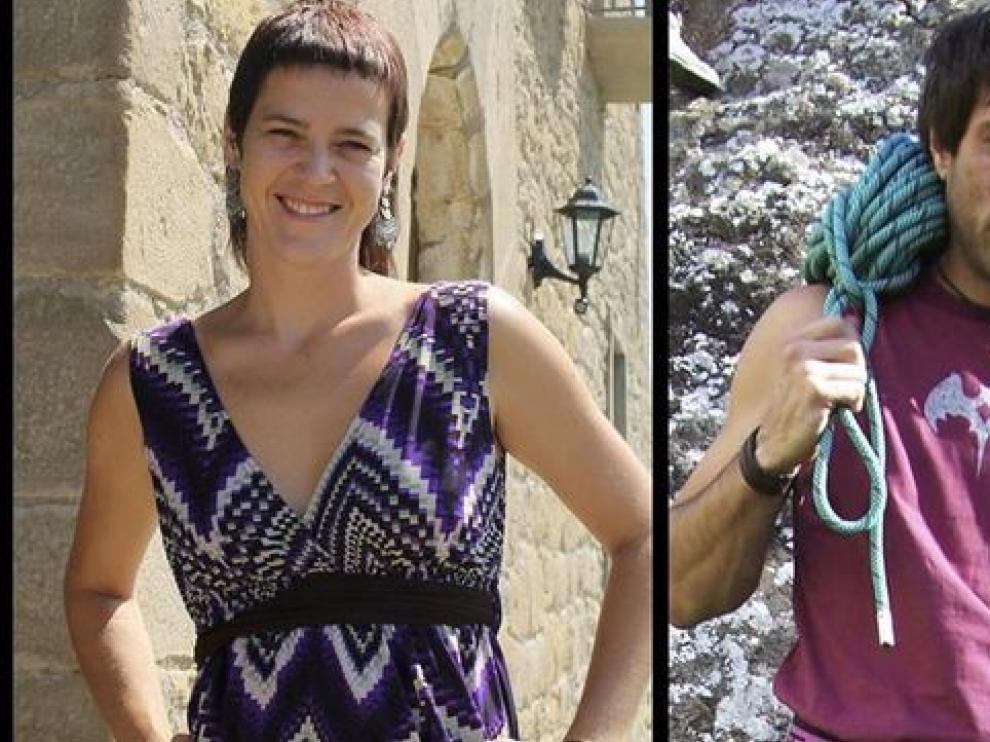 A la derecha, Michel Pizarro, desaparecido en el terremoto de Nepal