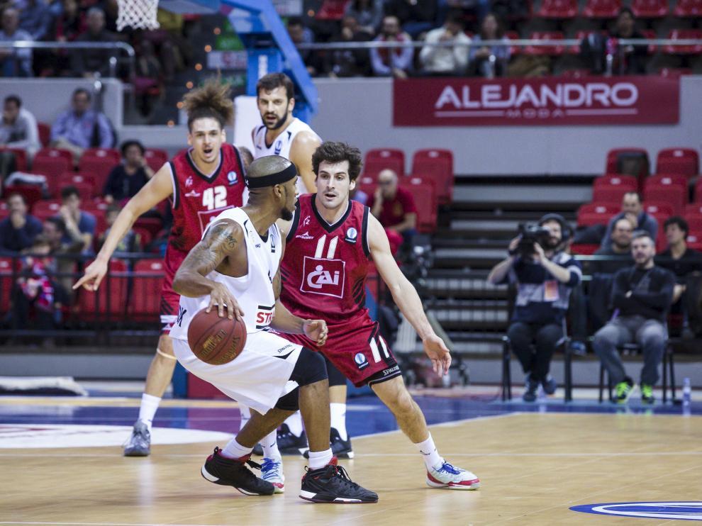 Una imagen del partido del CAI Zaragoza ante el Szolnoki Olaj