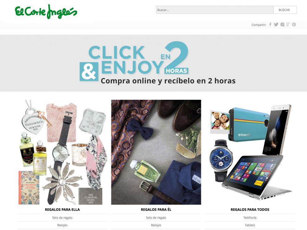 El Corte Inglés amplía su oferta para las compras on line