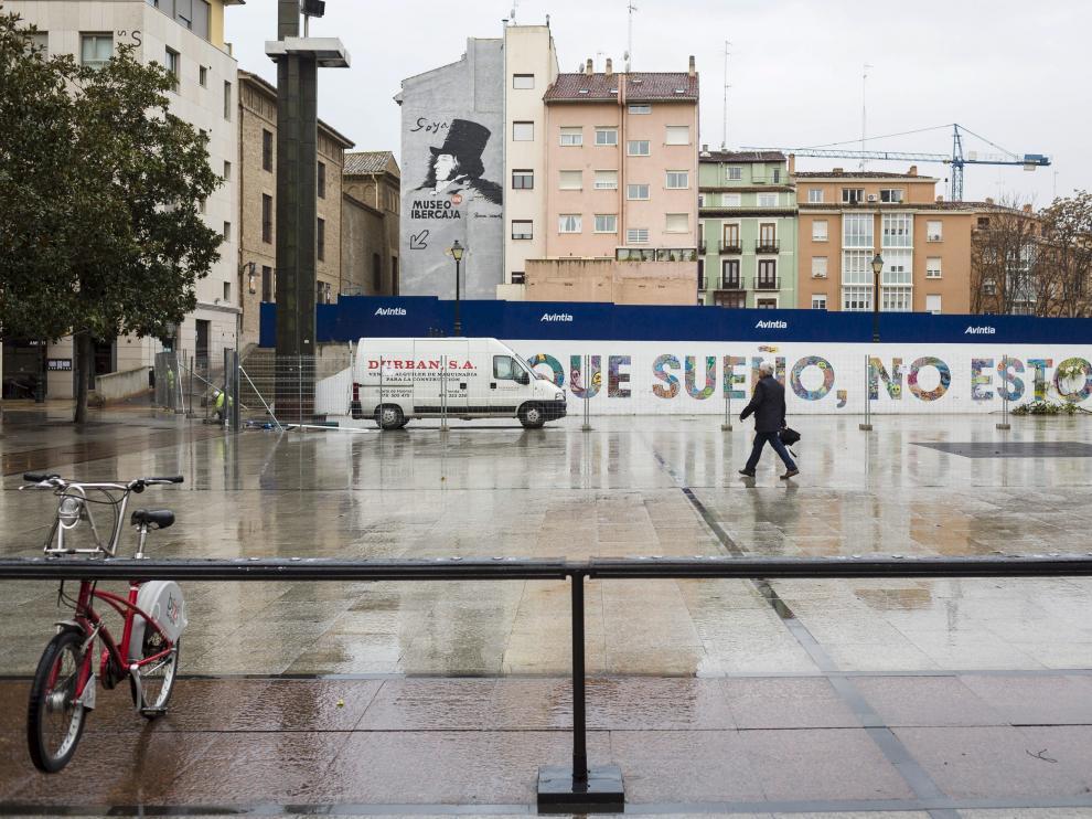 El gran mural del colectivo de artistas urbanos Boa Mistura desaparecerá en los próximos días.